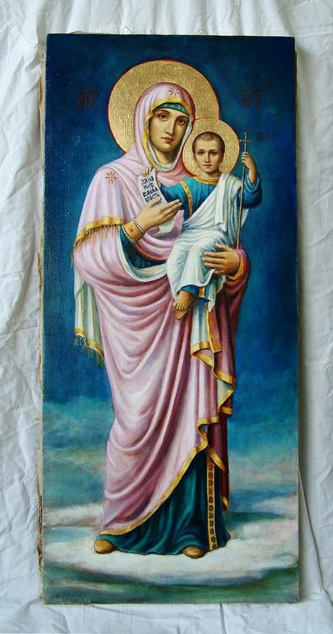 bogorodica sa hristom ulje na platnu ikona
